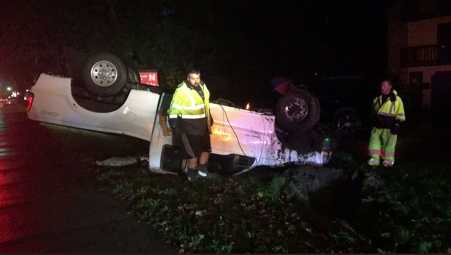 Rain causes vehicle to rollover. //WSBT 22 News.{&amp;nbsp;}<p></p>