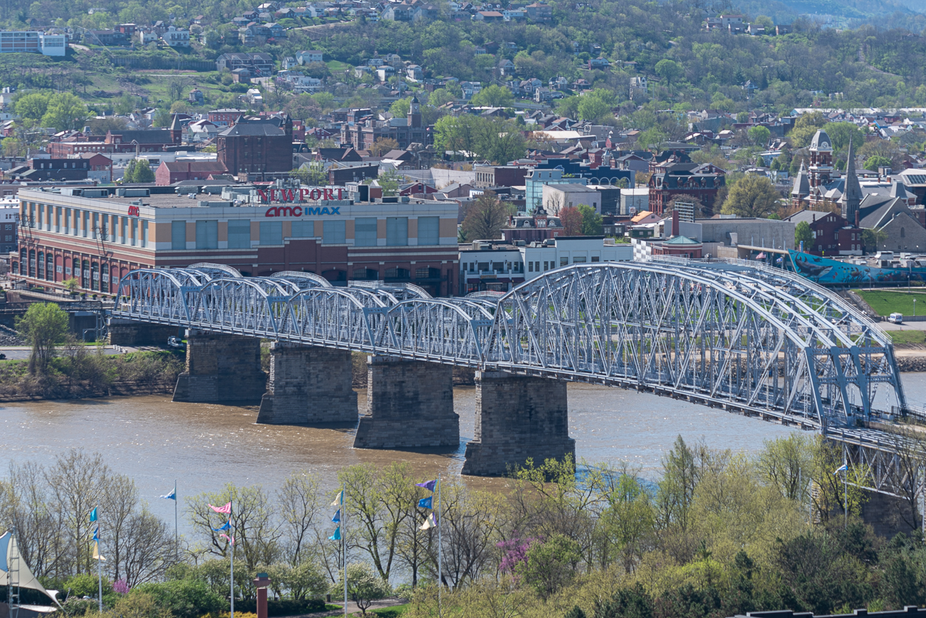 View #2: Mt. Adams / Mt. Adams' view is notable because it has an excellent line of sight on the river and northern Kentucky. If you walk across the Ida Street bridge, you get a glimpse of Pendleton, Over-the-Rhine, and Mt. Auburn, too. / Image: Phil Armstrong // Published: 4.24.20