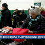 Cold weather doesn't stop Brighton farmer's market