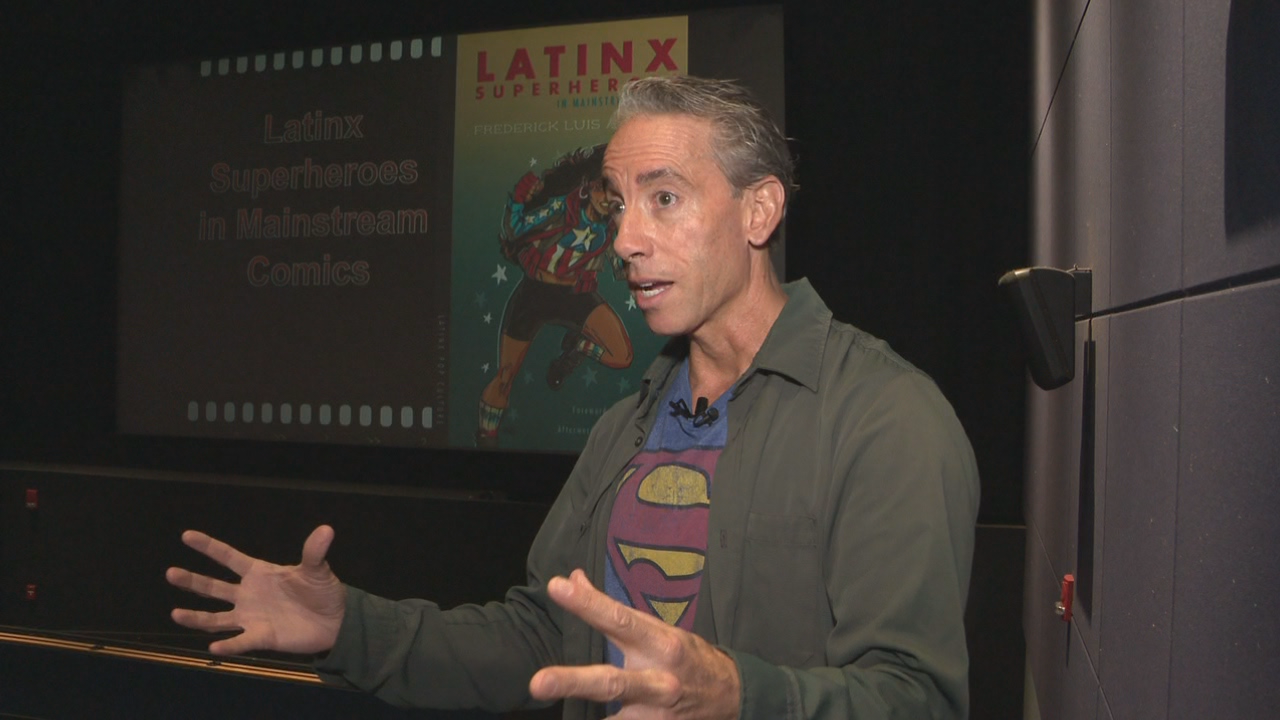 Ohio State professor Frederick Luis Aldama is bringing comic books to his classes. (WSYX/WTTE)