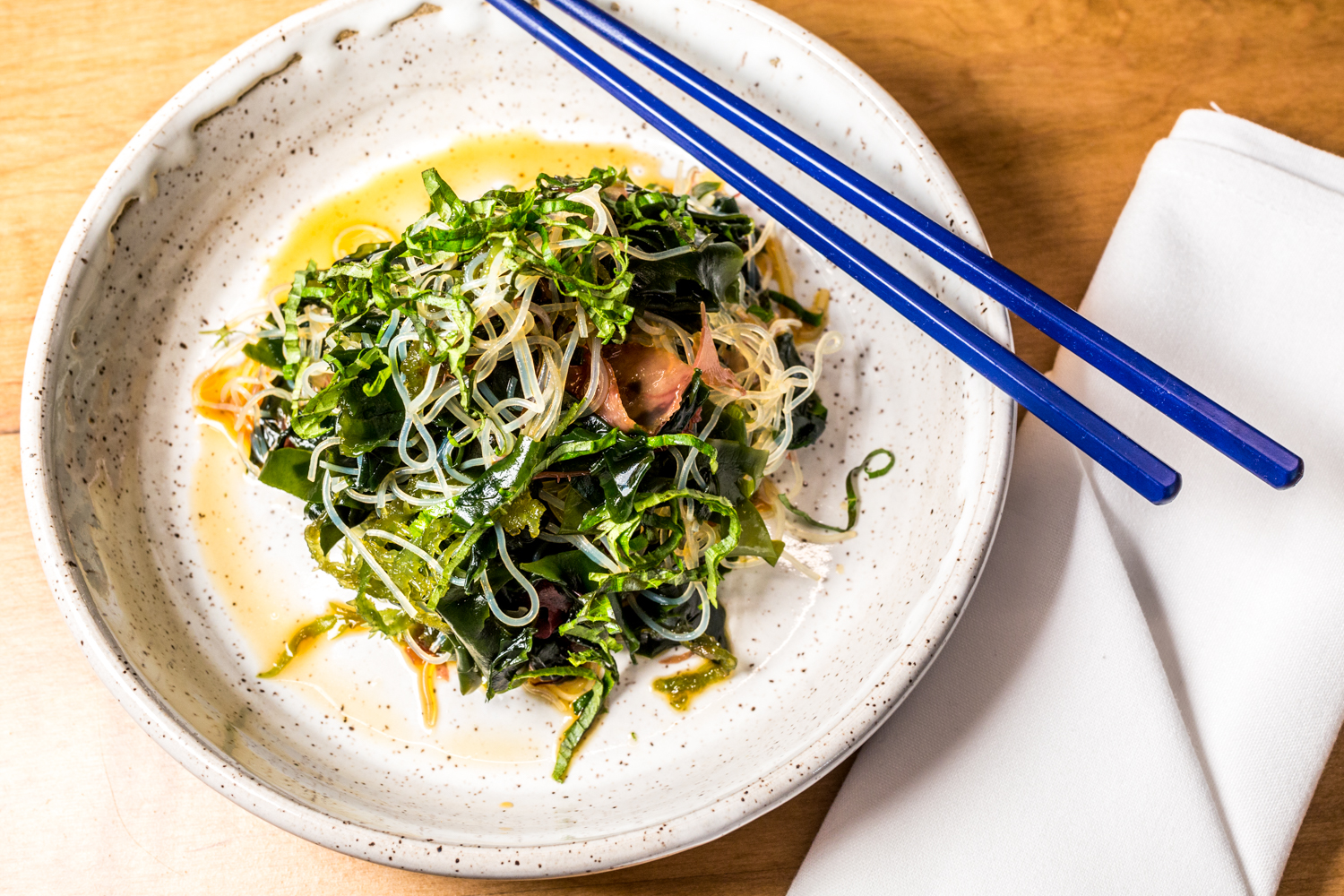 Harusame Salad: mung bean noodle and seaweed / Image: Catherine Viox // Published: 10.21.19