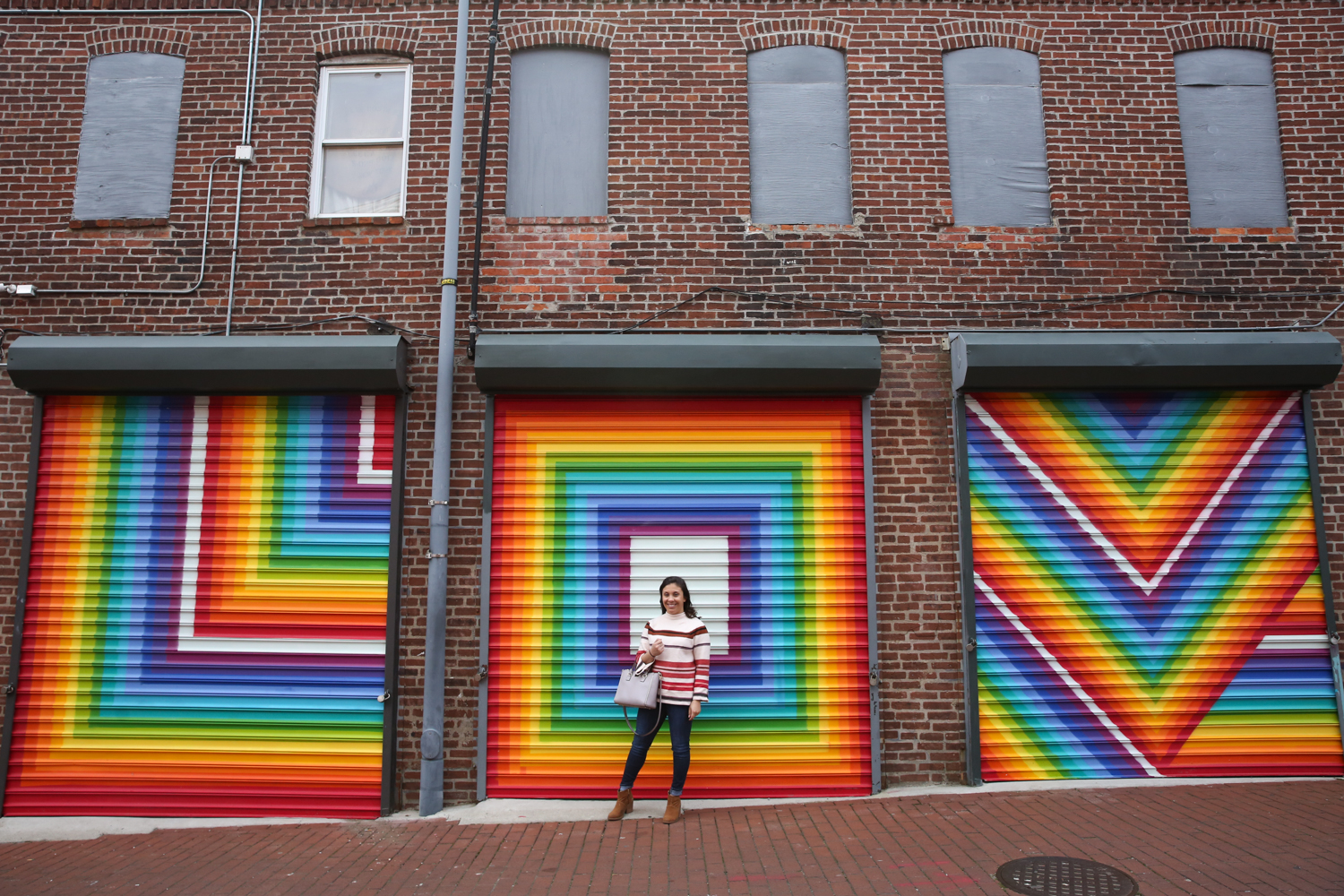 This rainbow-hued mural by Lisa Marie Thalhammer in Blagden Alley is perennially popular for a reason. Wether you want to post the entire mural or focus on the details, there are plenty of Instagram opportunities. (Amanda Andrade-Rhoades/DC Refined)