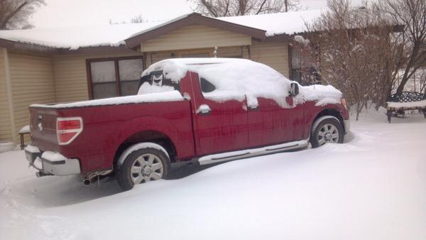 Snow in Blair, Oklahoma