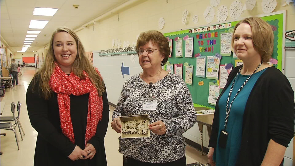 Three generations are working at Lyseth Elementary School in Portland (From L to R) Carrie Mooney, Carrie Benner, and Stacey Mooney (WGME).