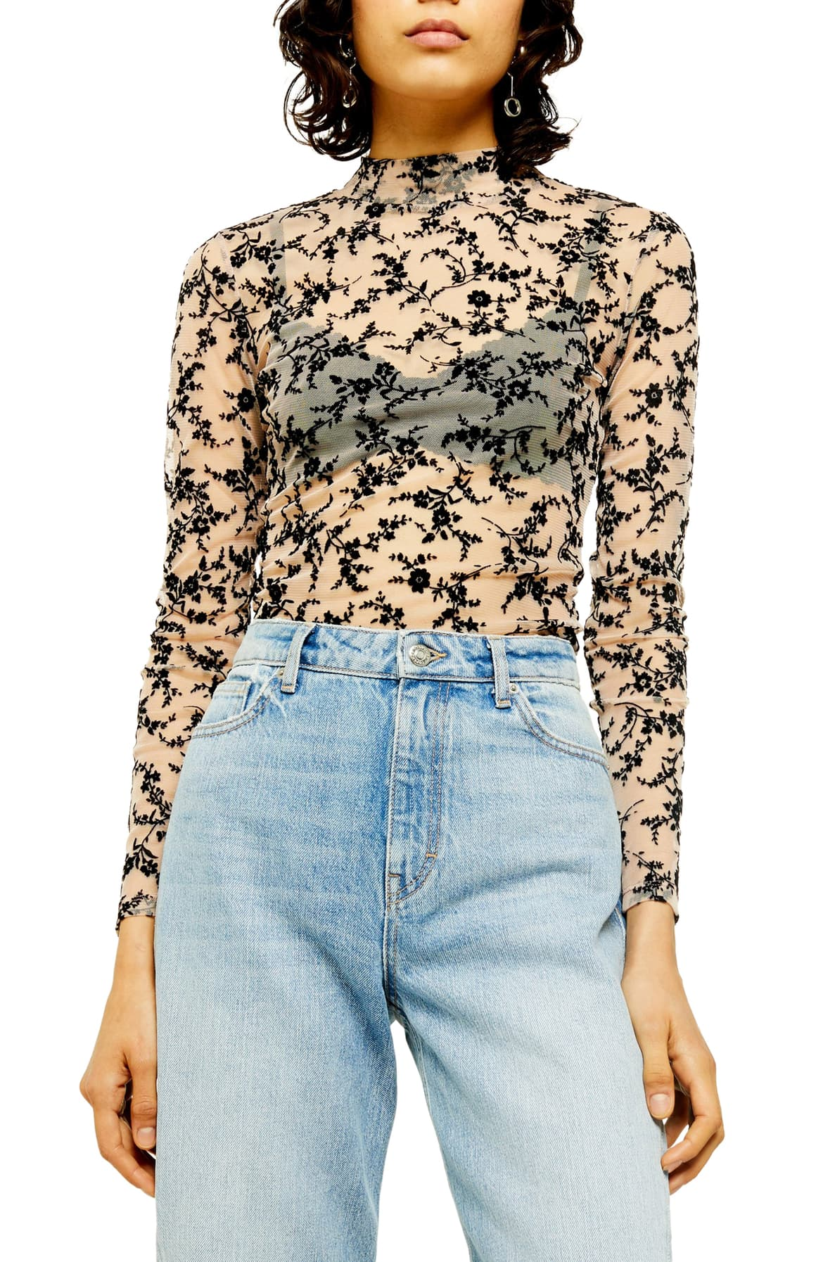 This bold print, mesh top screams the '80s! It's pretty charming if you ask me. $35 (Image: Nordstrom){ }