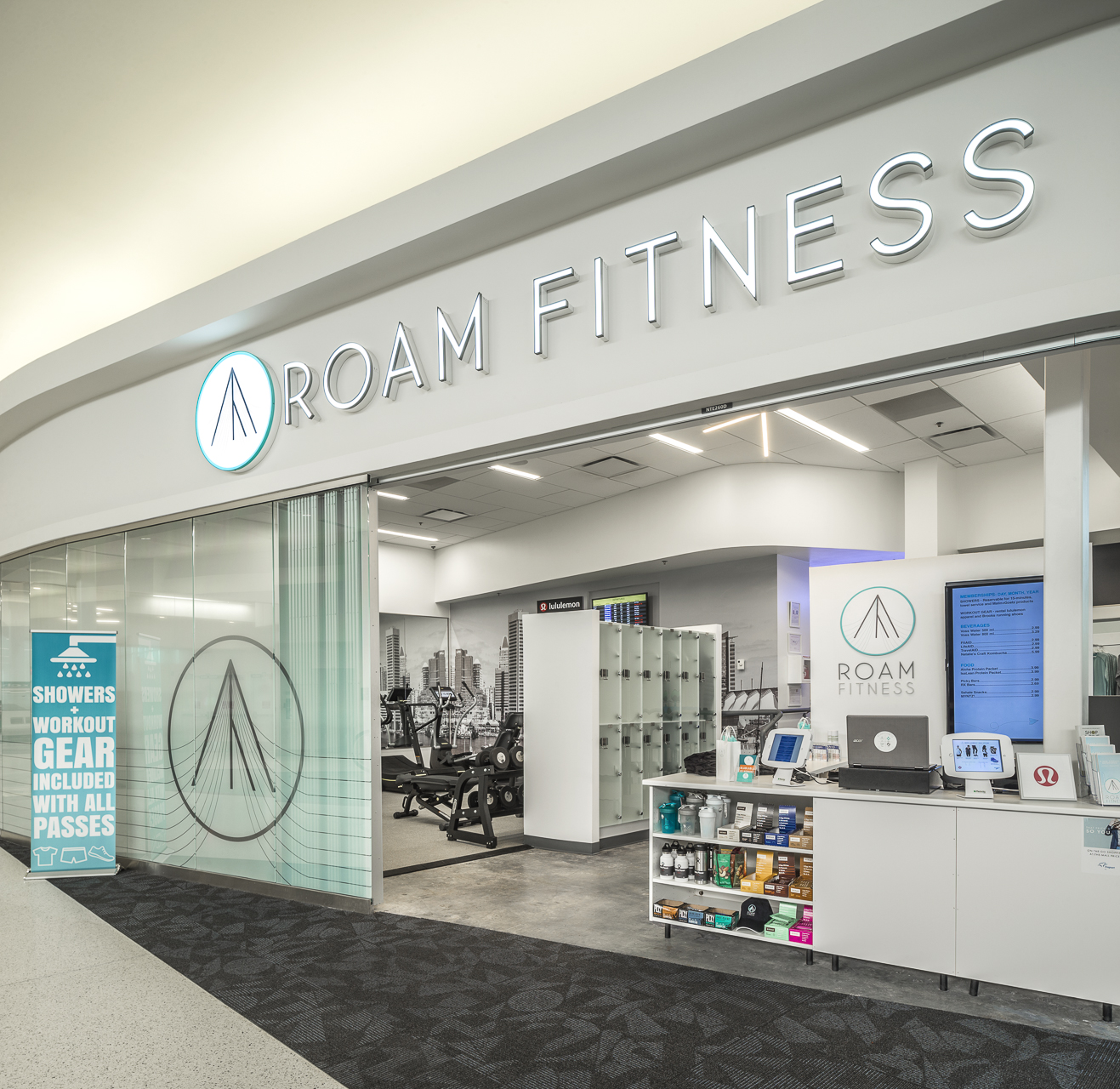 Stay fit even during travel days with a visit to RoamFitness. (Image: Courtesy RoamFitness)