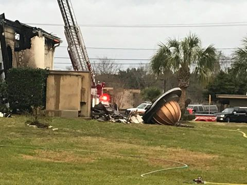 An early-morning fire Saturday destroyed a Texas mosque that was a target of hatred several years ago and experienced a burglary just a week ago. (Facebook/Victoria Islamic Center)