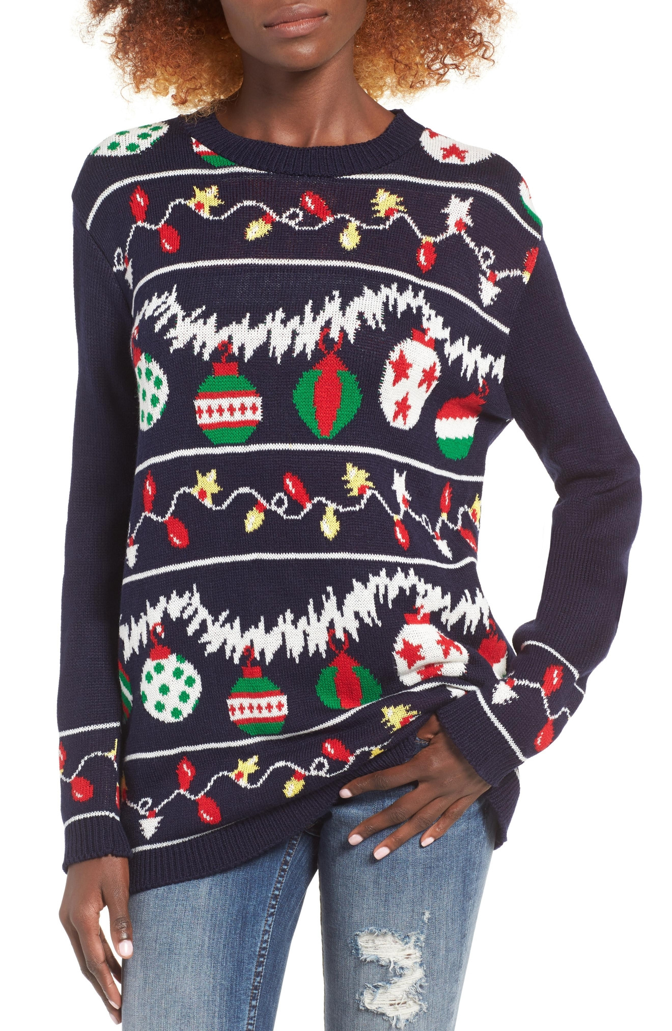 Cotton Emporium Ornament Christmas Sweater, $42 (Photo: Nordstrom)