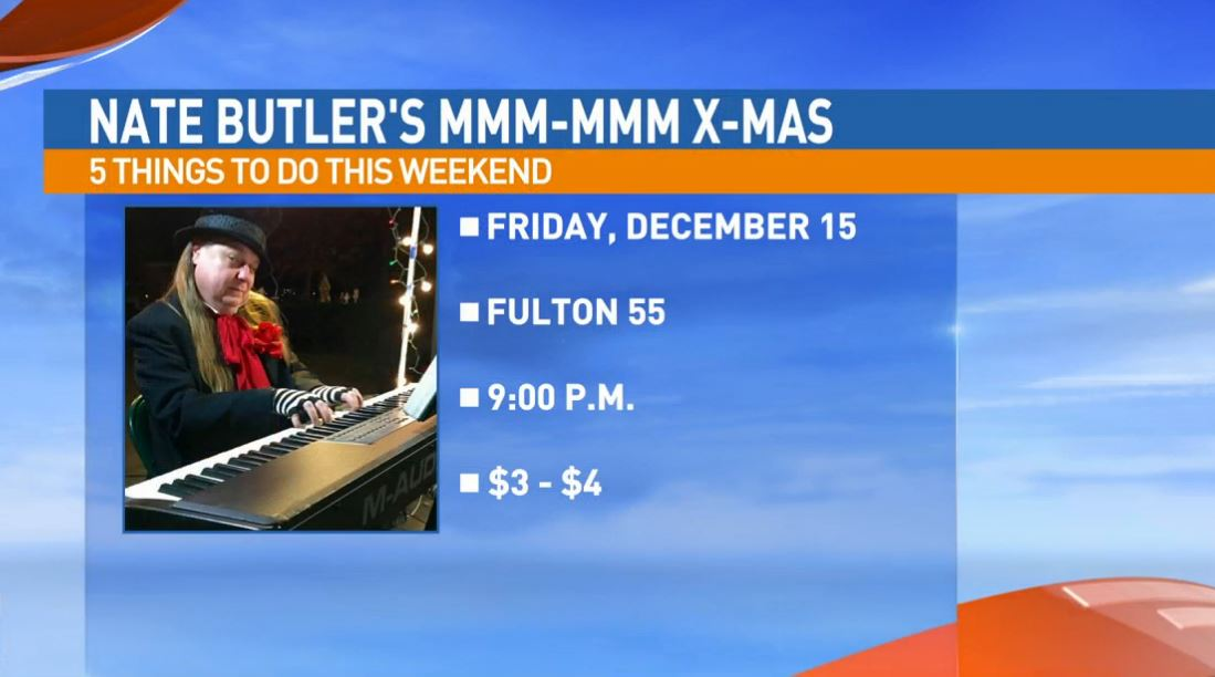 Nate Butler's Mmm-Mmm Christmas Friday at Fulton 55 in downtown Fresno