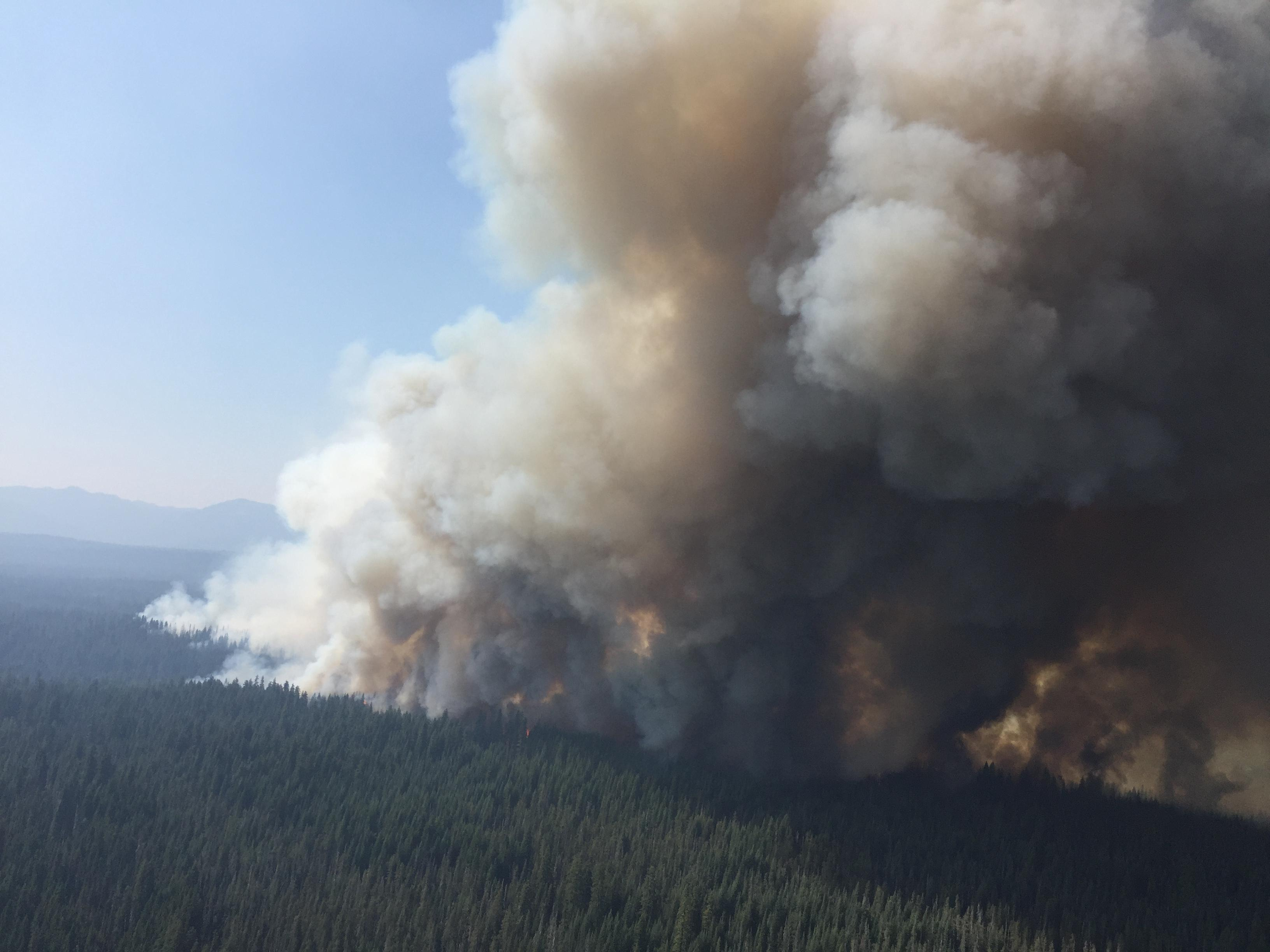 The Spruce Lake Fire on August 3, 2017. (InciWeb)
