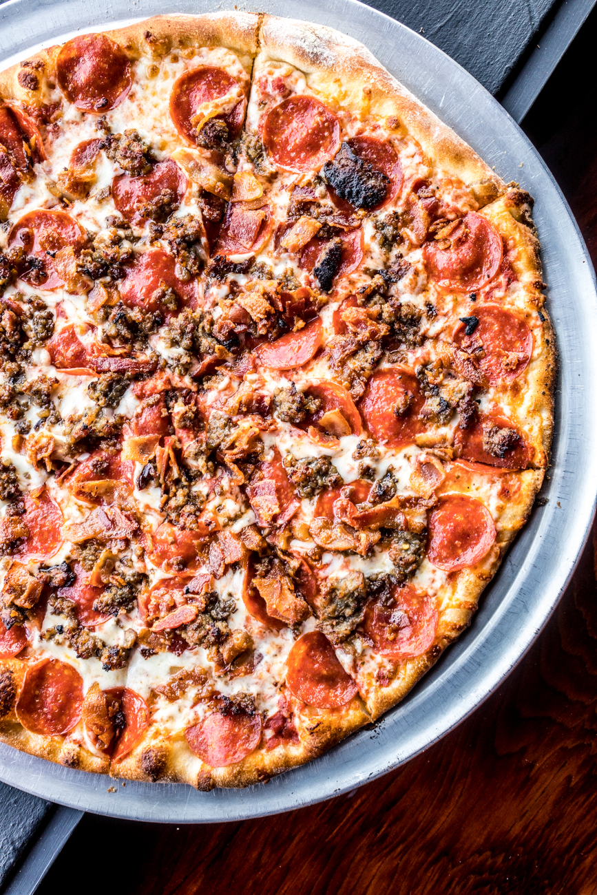 Meat Lover's Pizza: pepperoni, sausage, fresh-cut bacon, and meatballs / Image: Catherine Viox // Published: 2.3.20