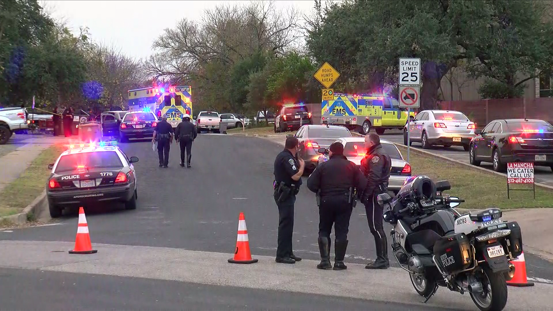 A fatal stabbing in Central Austin ended with an APD officer shooting the suspect. (Photo: CBS Austin)