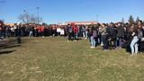 Hundreds of Grand Blanc High School students participate in National Walkout Day