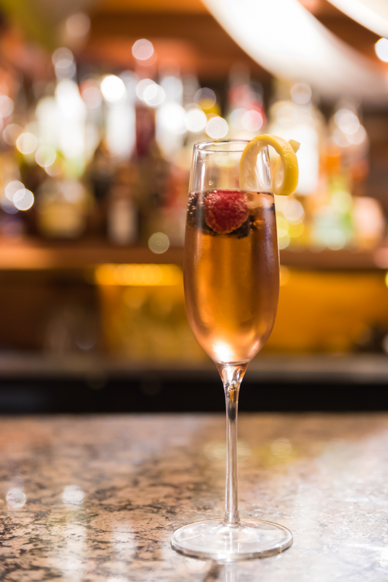 Kir Royale: Chambord and champagne / Image: Sherry Lachelle Photography // Published: 3.21.18<br><p></p>