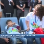 "Families test out traveling in ""Wings for Autism"" event"