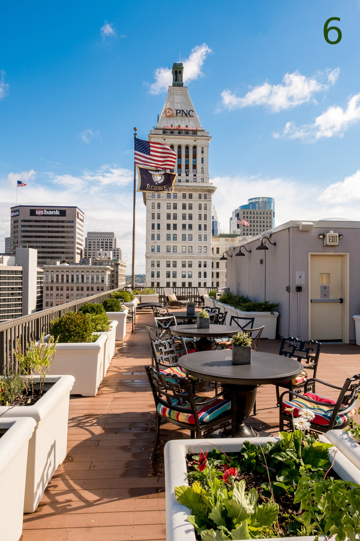 #6 - The Reserve building at 4th & Race has everything your boring apartment doesn't, including this killer rooftop deck. / Image: Daniel Smyth Photography