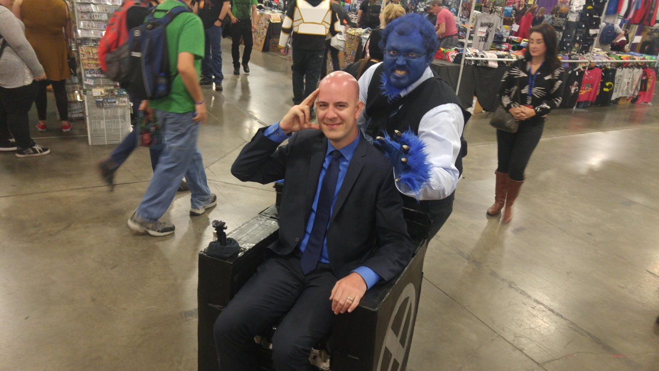"Salt Lake Comic Con FanX attendants dress up as Beast and Professor X from ""X-Men."" (Photo: Melissa Youngberg / KUTV)"