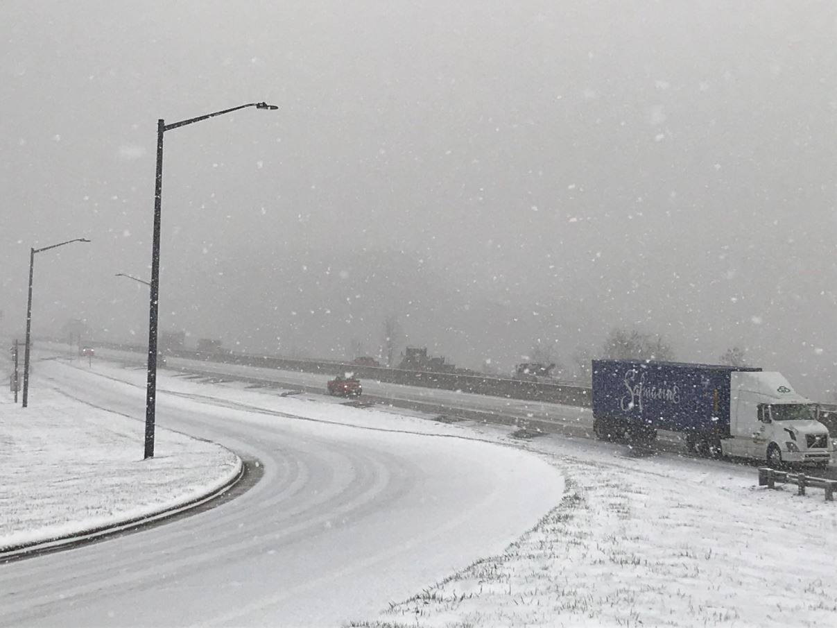 The scene in{ }Madison County on Wednesday, March 7, 2018. (Photo credit: WLOS Staff)