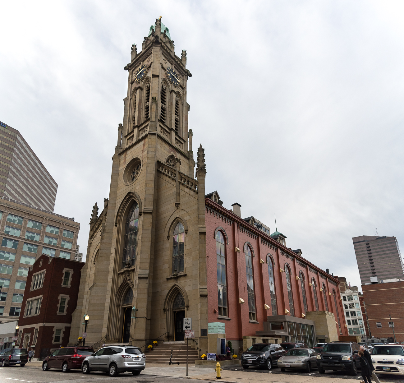 ANSWER: St. Francis Xavier Church at 611 Sycamore Street in Downtown Cincinnati. Boasting the oldest parish in Cincinnati (founded 1819), the Catholic church is in its third physical iteration, which was built in 1860. / Image: Phil Armstrong, Cincinnati Refined // Published: 1.19.19