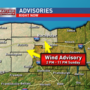 Wind advisory &  lakeshore flood warning