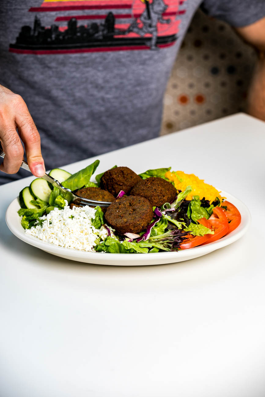 Aladdin's Eatery + Lounge serves up healthy Lebanese-American options like hummus tabouli rolled pitas, steamed lentils with brown rice, and vegetarian chili. ADDRESS: 1203 Main Ste #100 (45202) / Image: Amy Elisabeth Spasoff // Published: 5.18.19