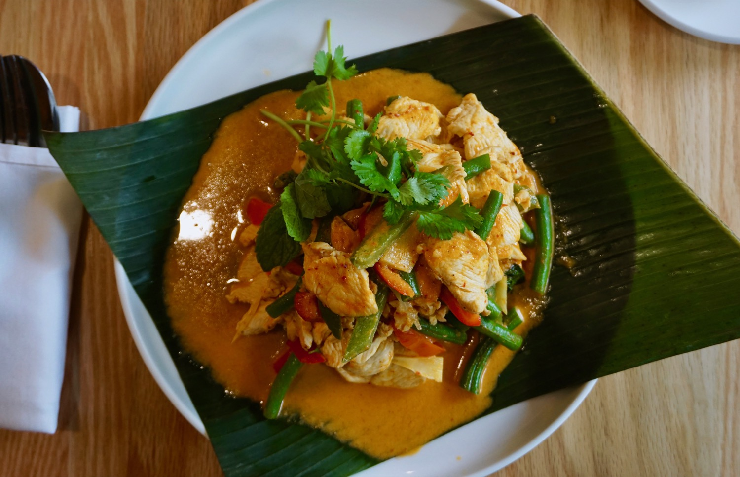Red Curry: With bamboo shoots, green bell papper, basil / Image: Brian Planalp // Published: 9.15.17