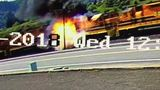 Engine fire leaves train blocking major railroad crossing in Roseburg