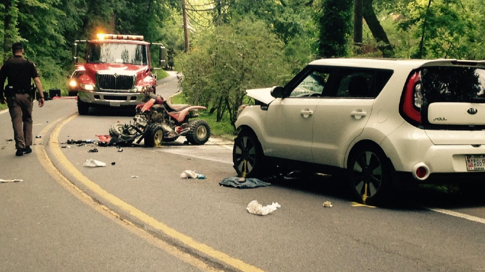 1 Dead 3 Injured After Atv Crashes Into Car In Maryland