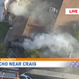 Crews knock down house fire near Rancho, Craig in northwest valley