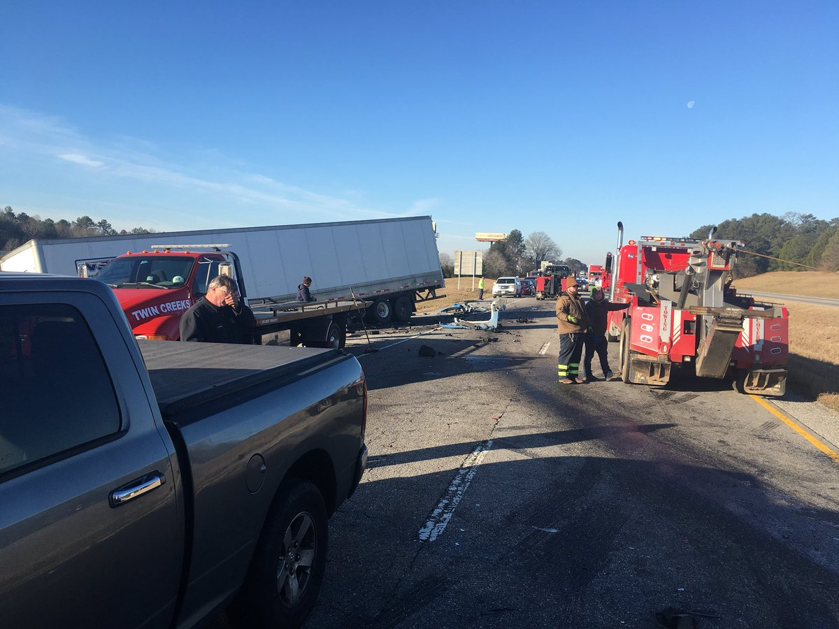 Traffic stopping from fatal accident caused a second crash involving two tractor trailers. (abc3340.com | Stephen Quinn)