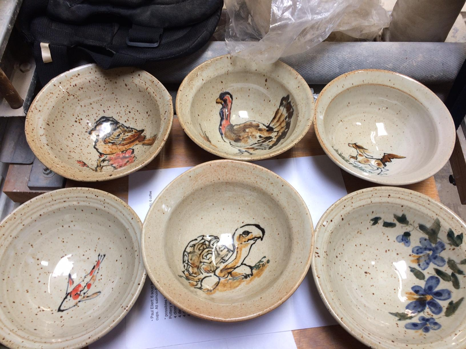 Frank Gosar has been making bowls for Food for Lane County's Empty Bowls fundraiser for 26 years. His donations help provide meals for thousands of people in the community. (SBG photo)