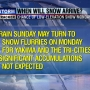 Snow flurries may arrive Monday in the Tri-Cities