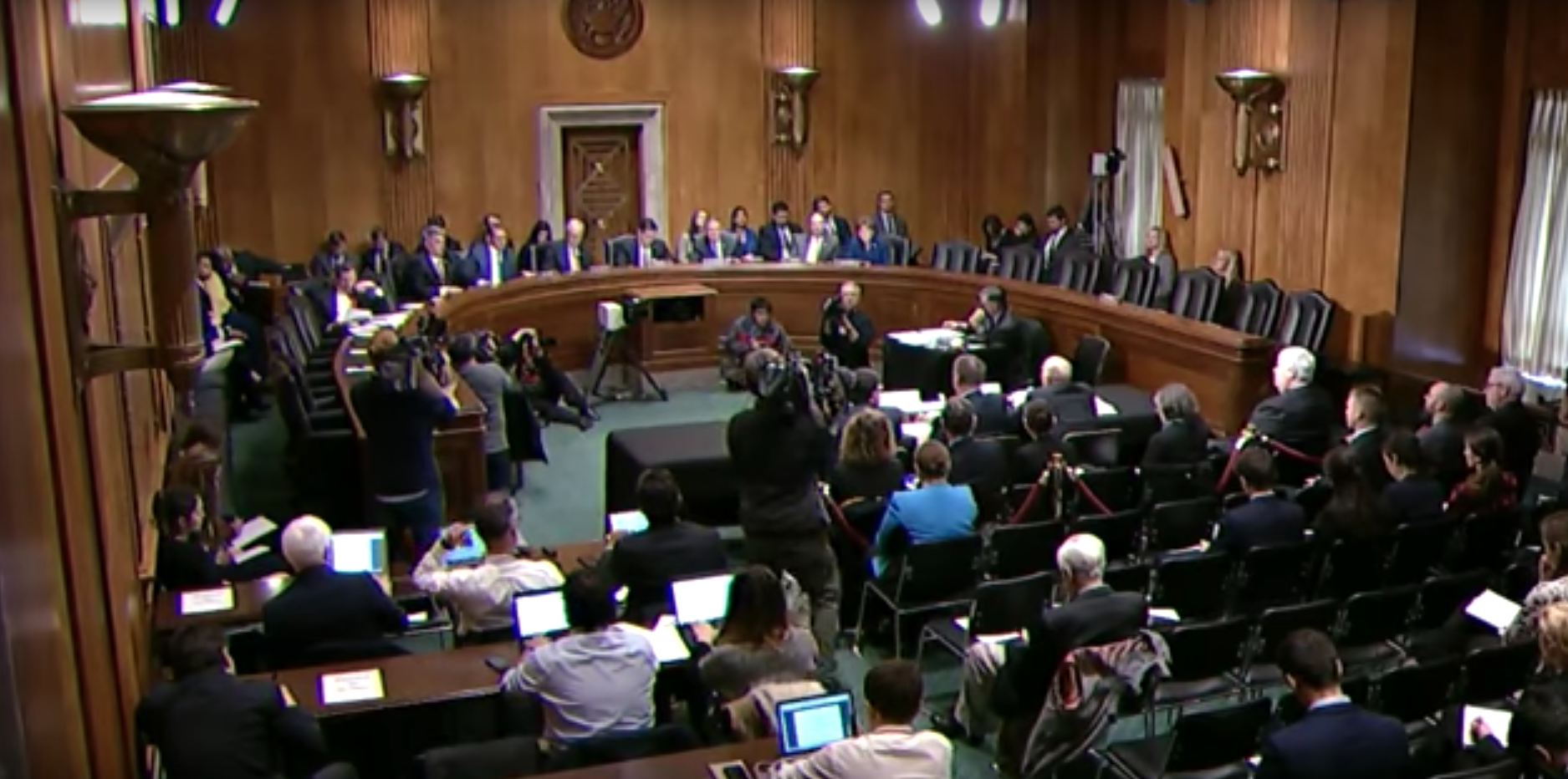 The Senate Foreign Relations Committee's subcommittee on Western Hemisphere, Transnational Crime, Civilian Security, Democracy, Human Rights, And Global Women's Issues/ Photo: State Department YouTube<p></p>