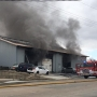 Marion Fire Department battles fire at Delaney Concrete Construction