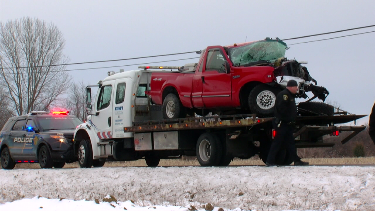 Ambulance, car and a pickup truck collided in Warren County (WKRC)