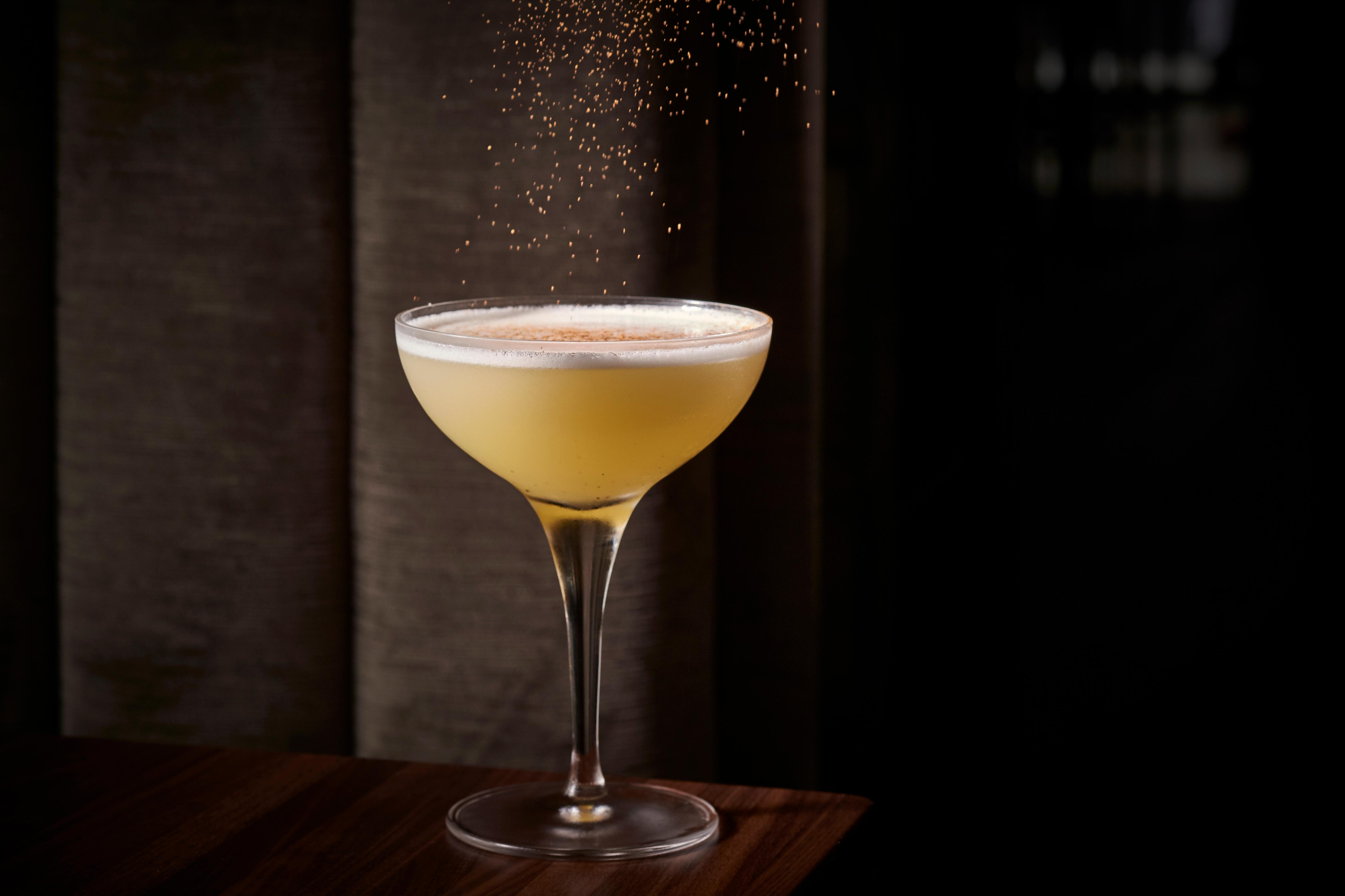 Allo Allo -- Tequila Reposado, Mezcal Joven, Ginger, Honey, Lemon. On the menu at Requin at the Wharf. (Image: Greg Powers)