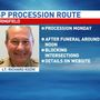 Procession for fallen ISP officer set for Monday