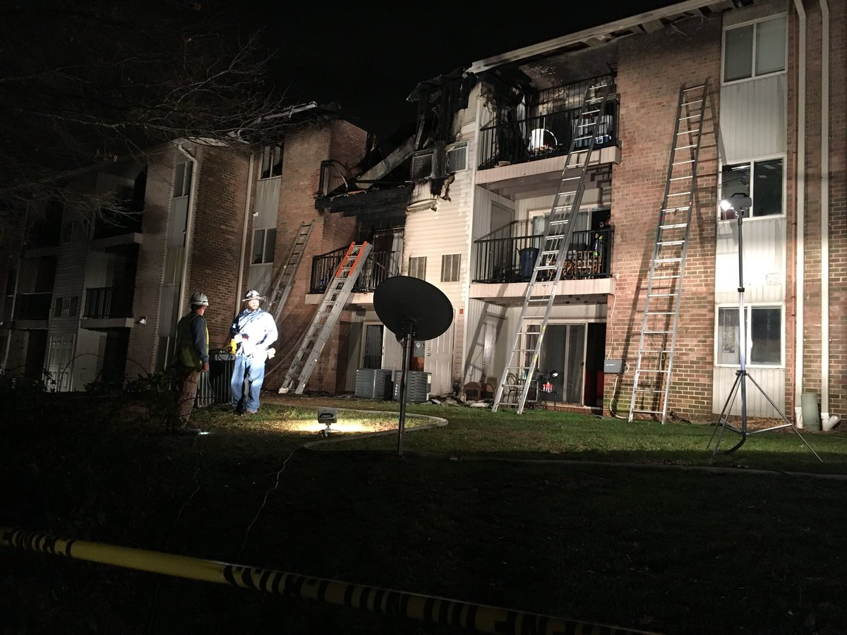 Firefighter hurt at apartment fire in White Marsh area (Submitted photo)