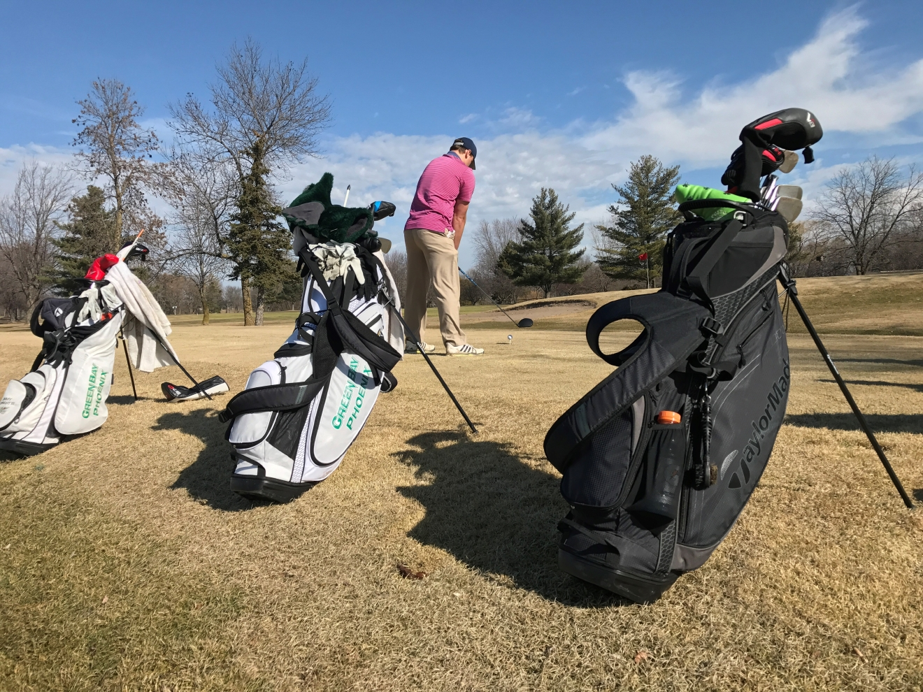 Golfers enjoy a game at the Woods Golf Club in Green Bay Wednesday, Feb. 22, 2017. (WLUK/Gabrielle Mays)