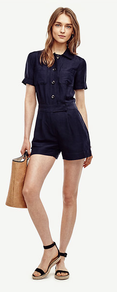 Oh the trusty romper, how we love you! Linen Blend Safari Romper, $139, anntaylor.com (Image: Courtesy Ann Taylor)