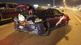 NHP trooper has close call after speeding vehicle slams into patrol car on I-15