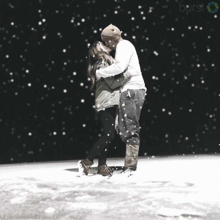 A snowy kiss (Submitted by Taylor Miller)