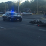 Two injured in Pace Boulevard collision involving motorcycle