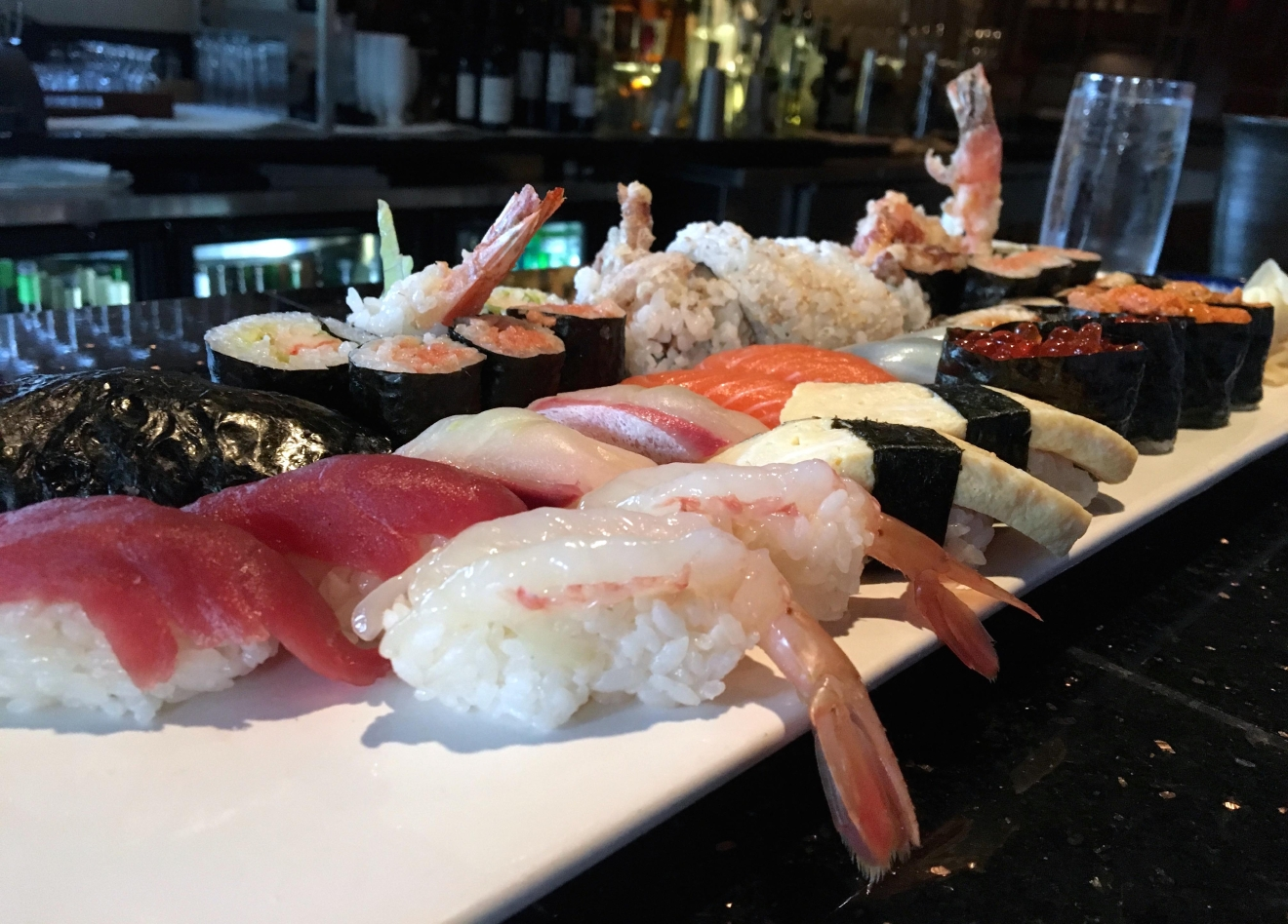 Visit Sushi Taro for happy hour at the 11-seat bar Mon-Friday (5:30-7 p.m.) for an all access pass to the ocean when sushi, sake and beer is half off, save for the occasional exotic urchin. (Image: Laura Hayes)