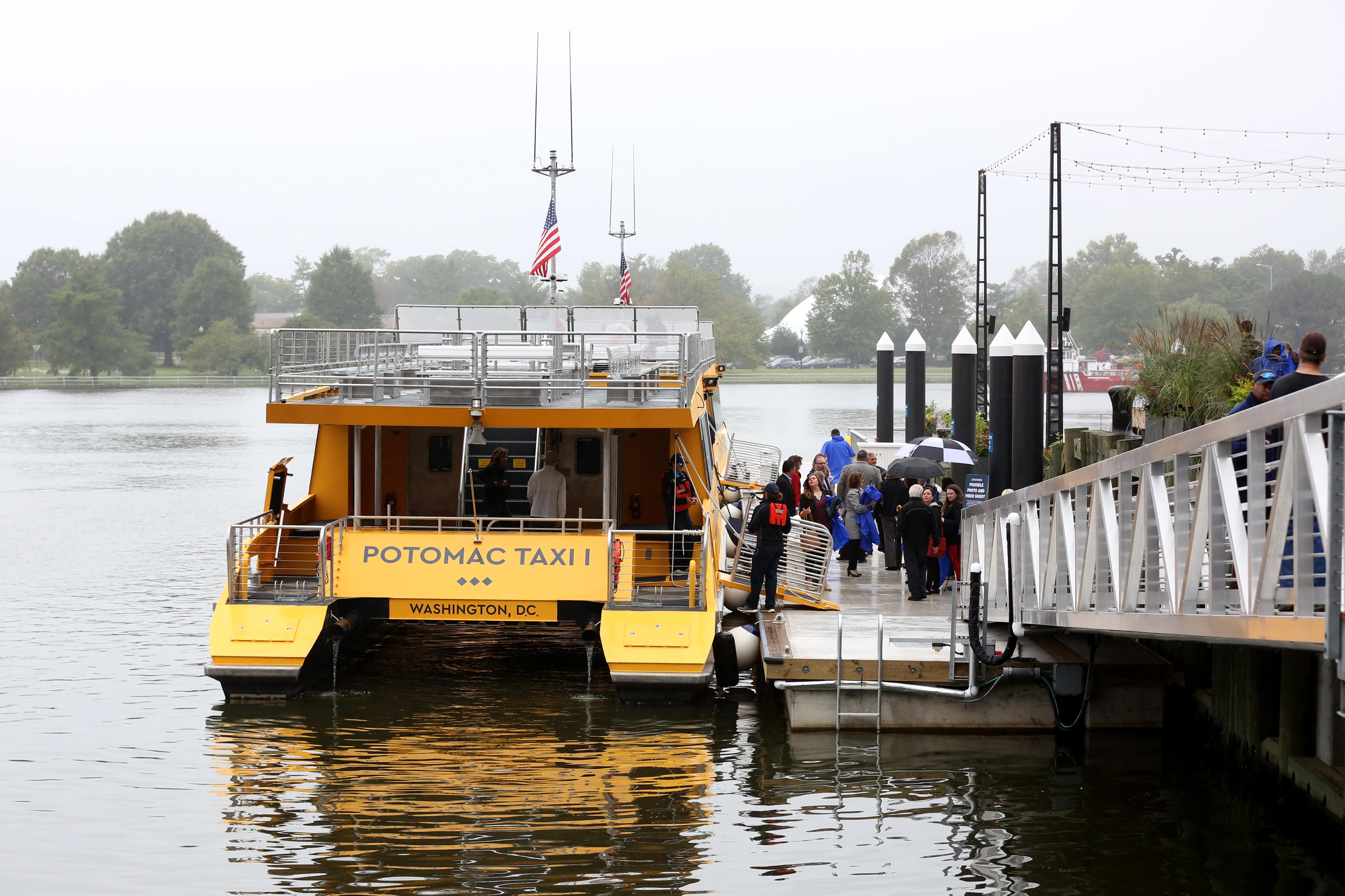The water taxi that visitors can use to get around the Potomac.{&amp;nbsp;} (Amanda Andrade-Rhoades/DC Refined)<p></p>