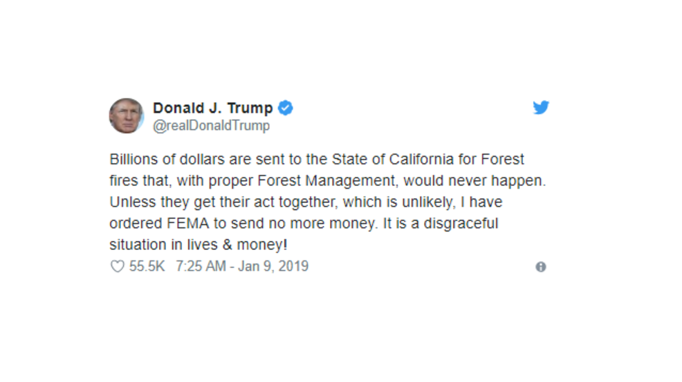 Lawmakers React To President Trumps Announcement To End Fema Money For California Krcr
