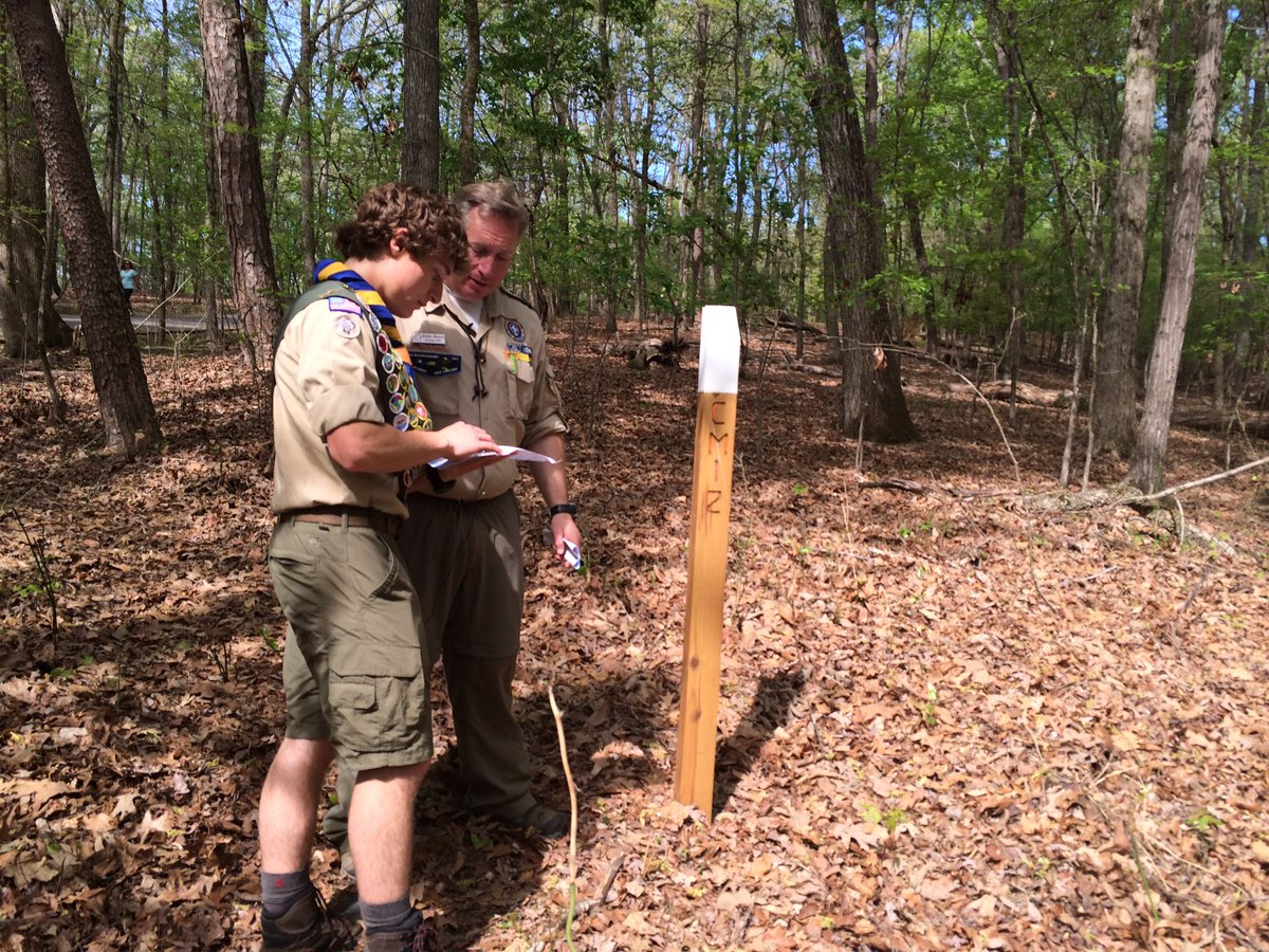 Joshua and Robby Bowers created an orienteering course at Harrison Bay State Park.