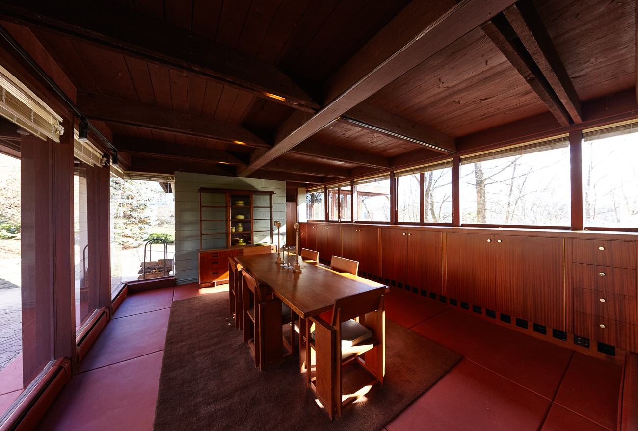 The Boulter House is a home in Clifton that was designed by famed American architect Frank Lloyd Wright (1867-1959) in the mid-1950s. The 2,450-square-foot house sits at the top of a small hill in the middle of Rawson Circle. The house was originally designed for a coniferous forest in California, but was adapted to a deciduous environment instead to fit in Ohio. It is one of only a small few Frank Lloyd Wright homes in Cincinnati. / Image: Steve Paszt Photography // Published: 1.12.19