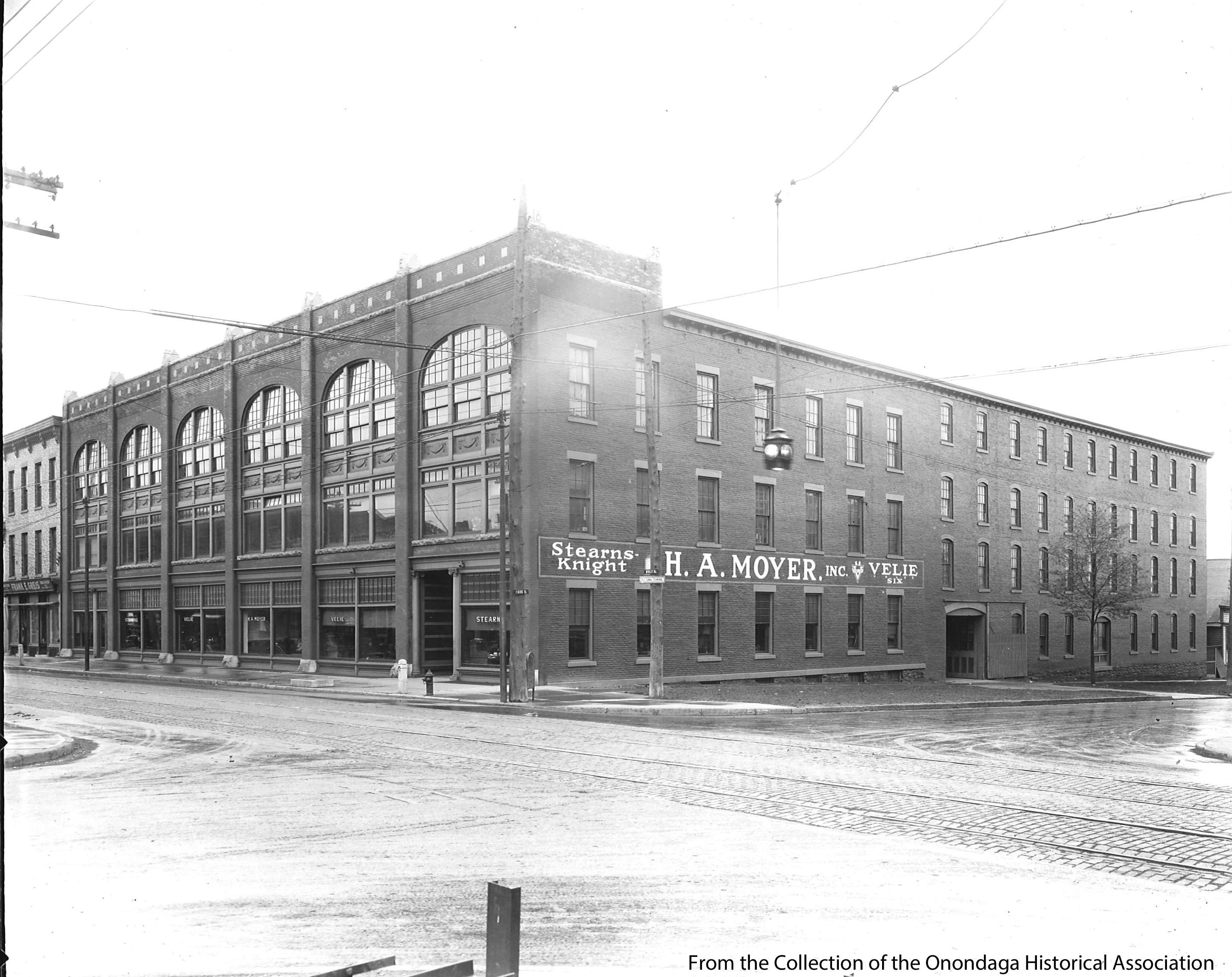 A view looking at Wolf and Park streets. This part of the building housed the showroom for the carriages. (Onondaga{&amp;nbsp;} Historical Association)<p></p>