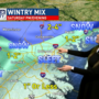 WINTRY MIX: Snow and sleet is now moving through the area